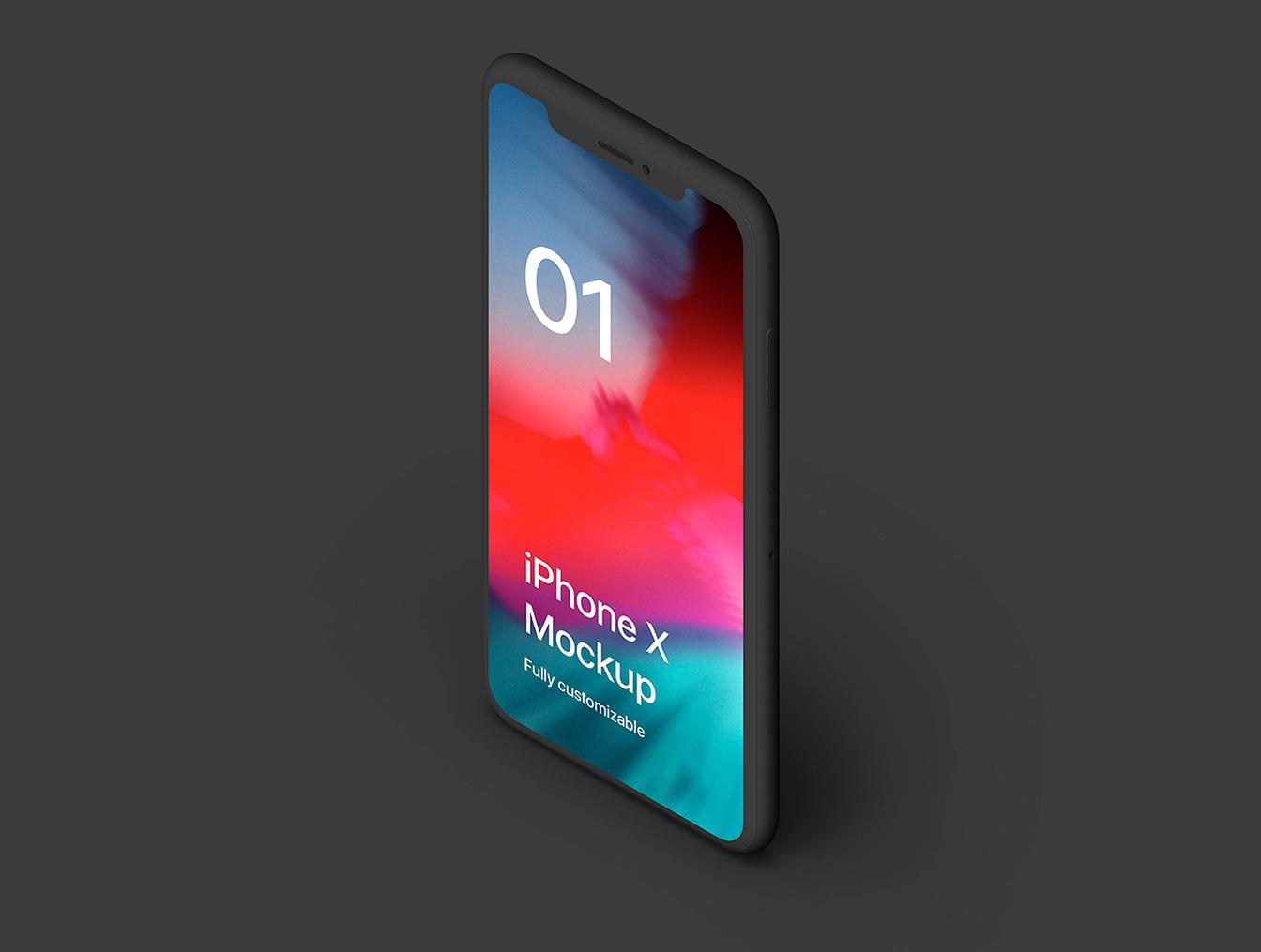 iPhone X Clay 20组 Mockups.psd素材下载 样机素材-第3张