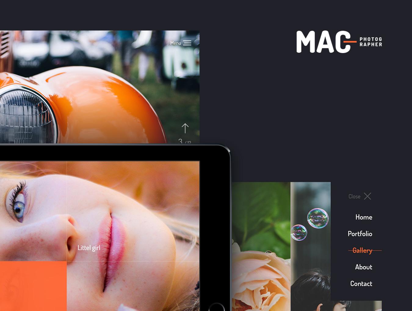 一个艺术家,设计师,摄影师网站模版.psd素材 VIP网页模板-第1张
