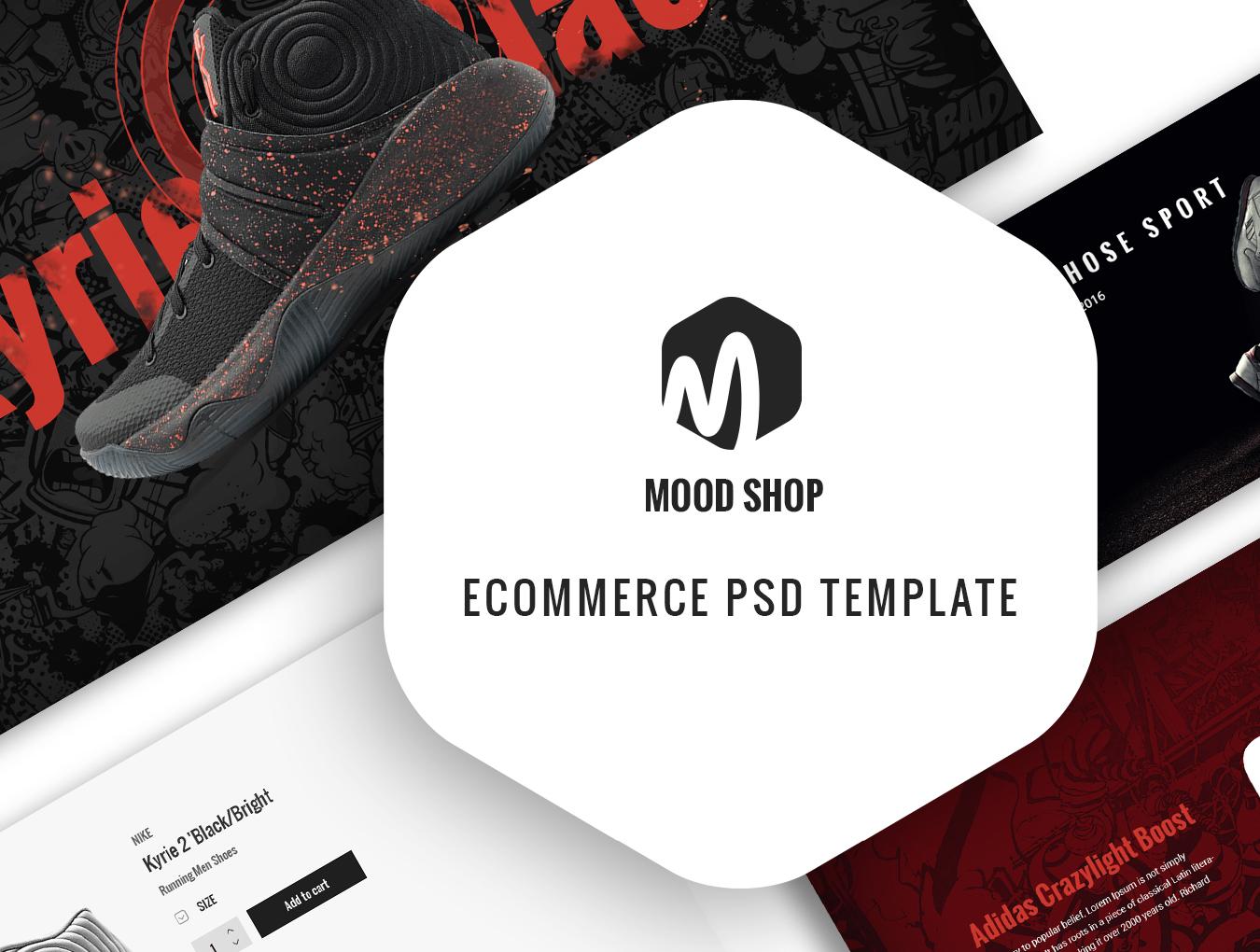 完整的鞋类电商平台MoodShop网站设计.psd素材下载 VIP网页模板-第1张