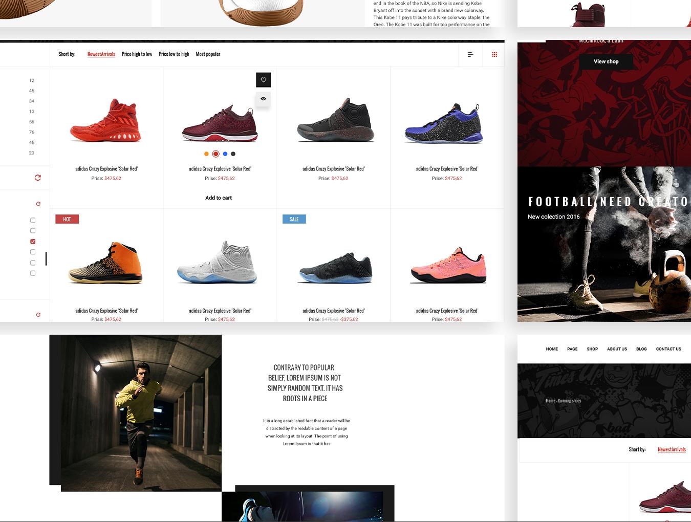 完整的鞋类电商平台MoodShop网站设计.psd素材下载 VIP网页模板-第4张