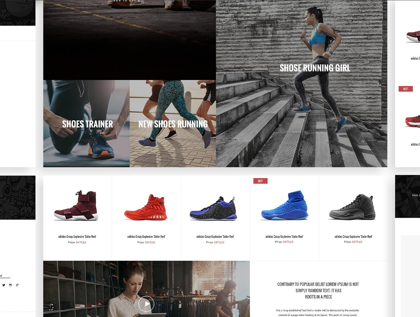 完整的鞋类电商平台MoodShop网站设计.psd素材下载 VIP网页模板-第7张