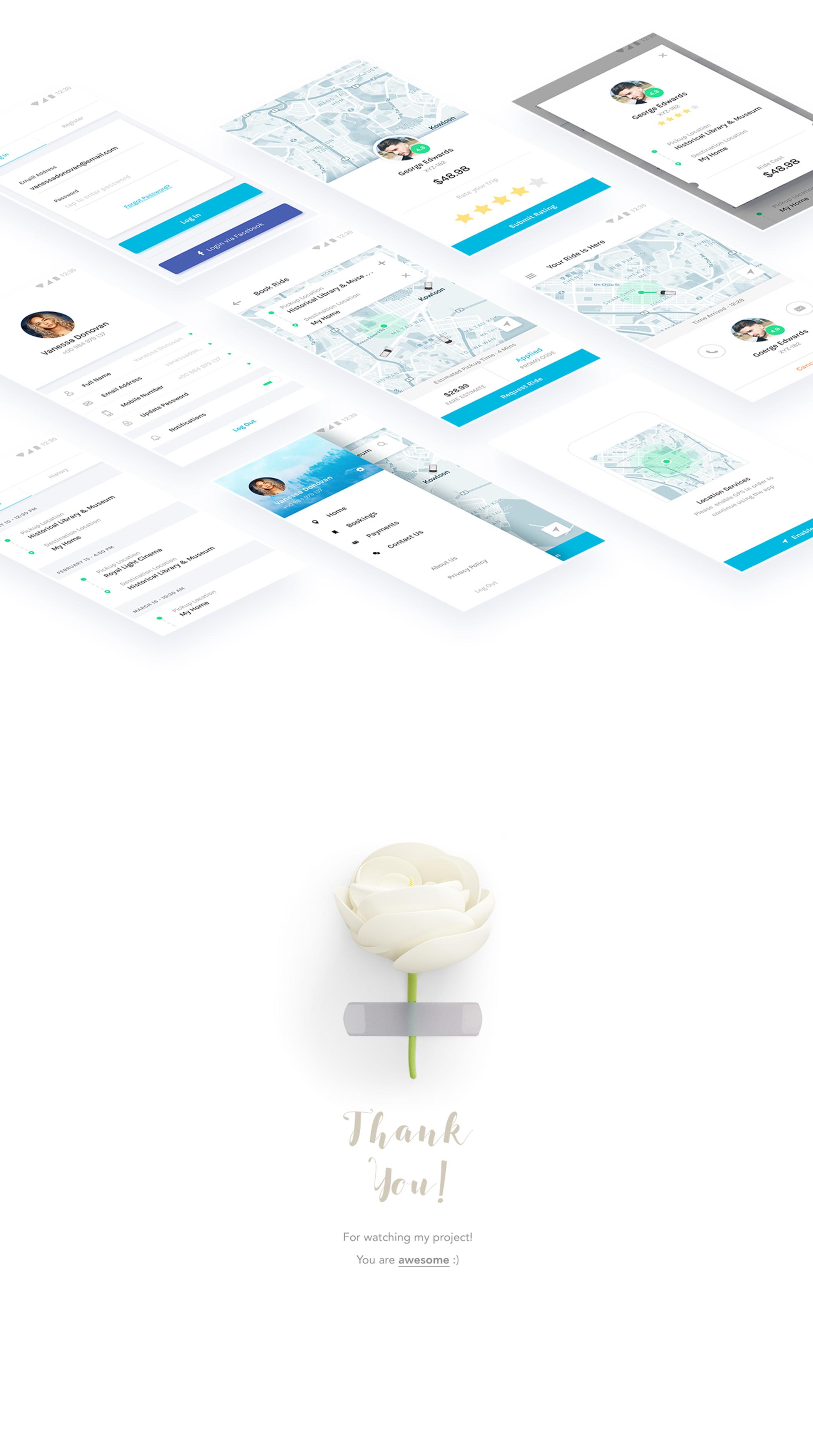 共享出行类手机APP UI界面设计.psd素材下载 VIP界面-第4张