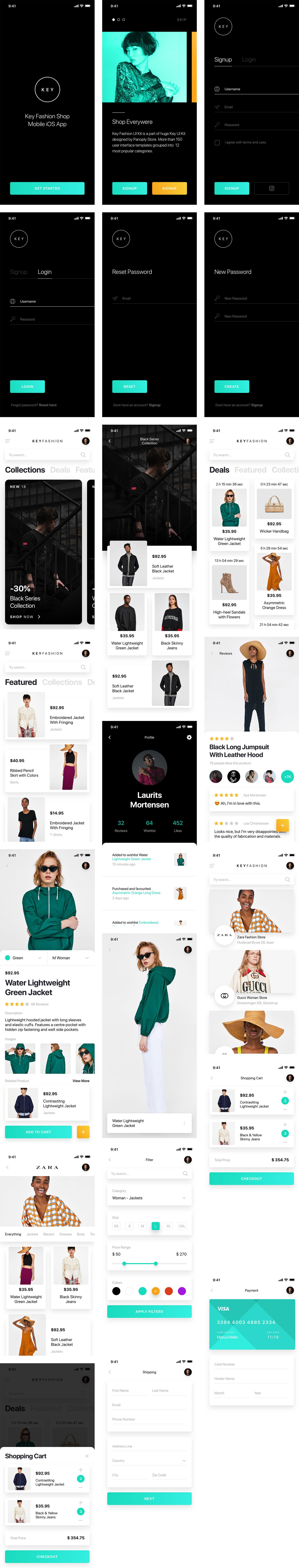 KEY 时尚商店APP界面设计.sketch素材下载 界面-第1张