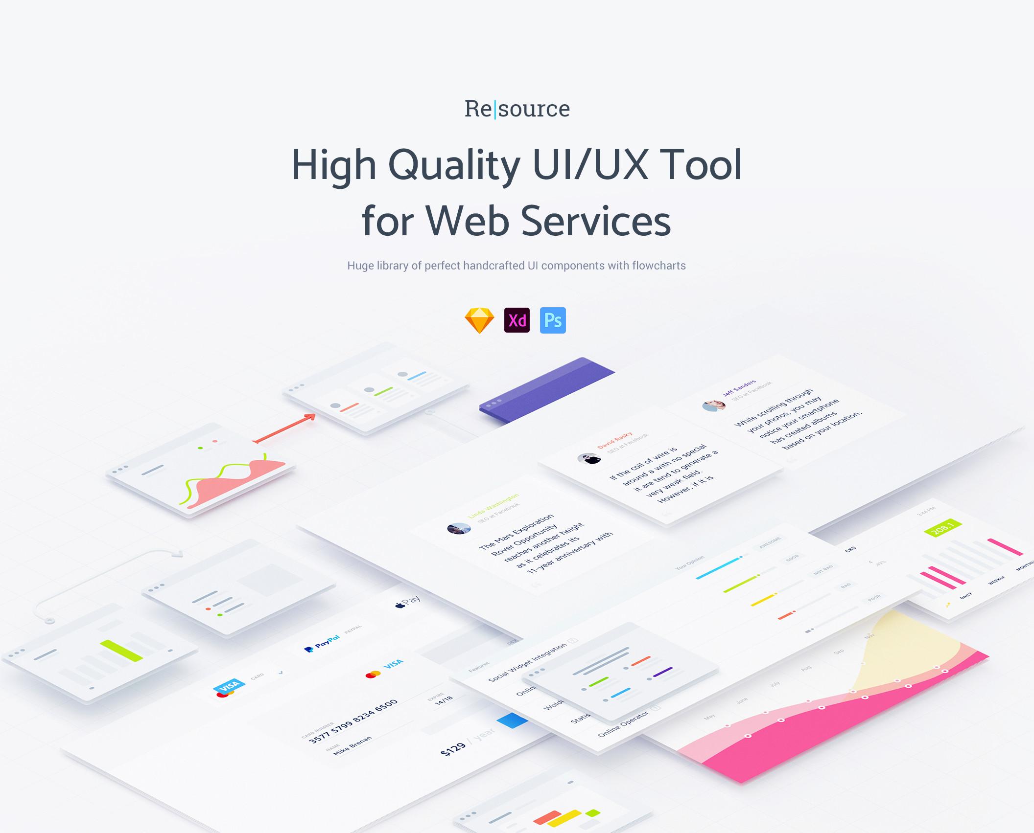 [VIP专享]绝对精品高质量的UI / UX设计工具包黑白两种风格.Sketch&Photoshop&XD素材下载 VIP主题包-第1张