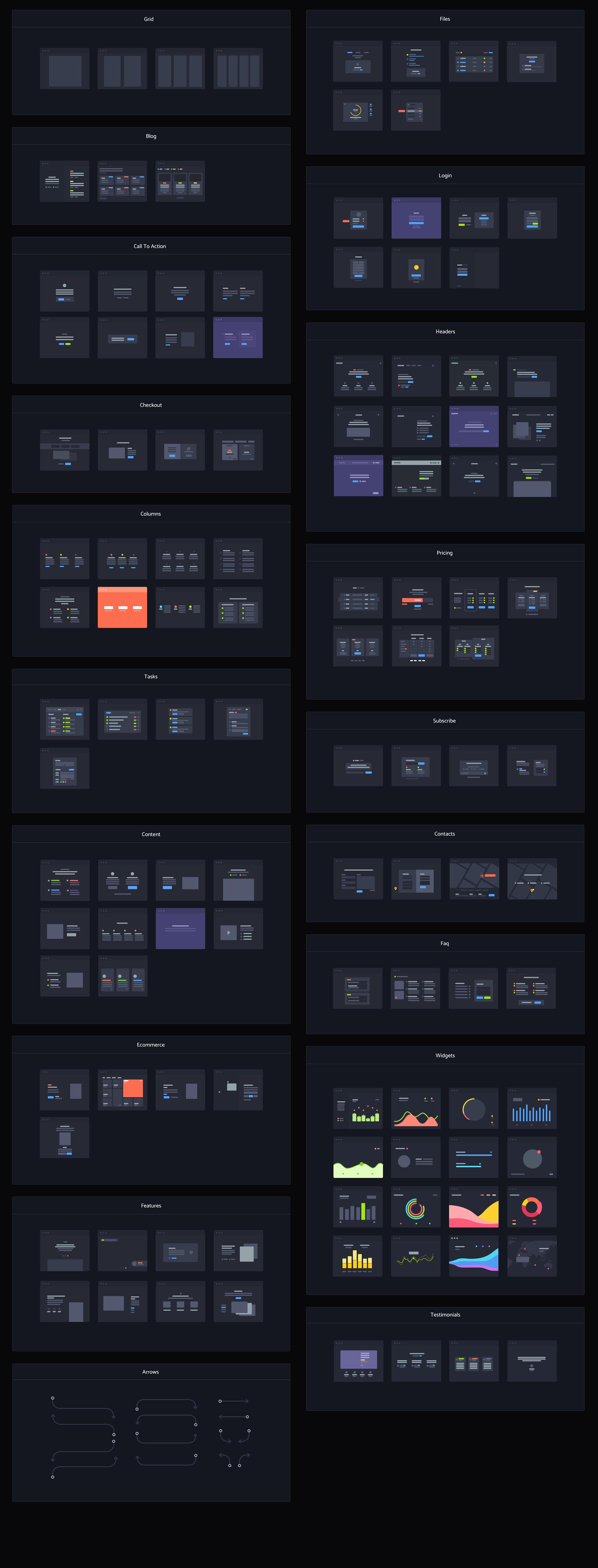 [VIP专享]绝对精品高质量的UI / UX设计工具包黑白两种风格.Sketch&Photoshop&XD素材下载 VIP主题包-第20张