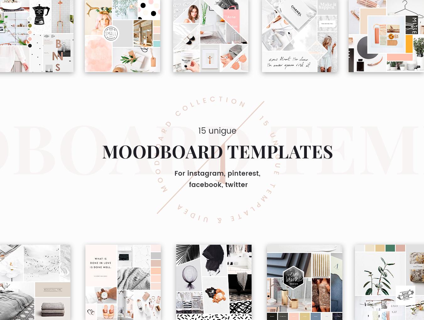 [VIP专享]Uidea MoodBoard 15个独特的可定制社交媒体图片模板.psd素材下载 VIP界面-第6张
