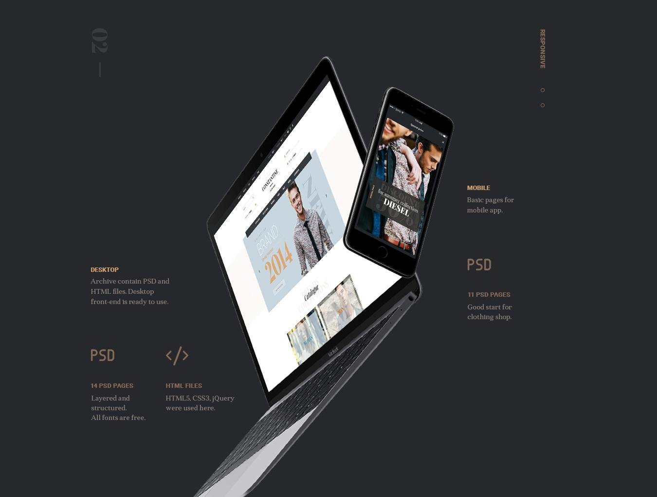 [VIP专享]超酷的电商网站模板.psd素材下载 VIP界面-第7张