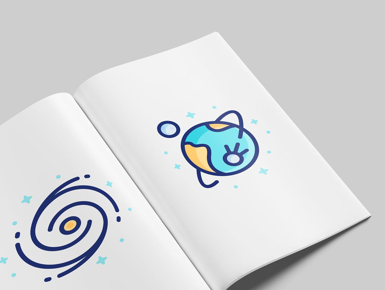 [VIP专享]28个线性卡通银河宇宙icon图标.ai素材下载 VIP图标-第7张