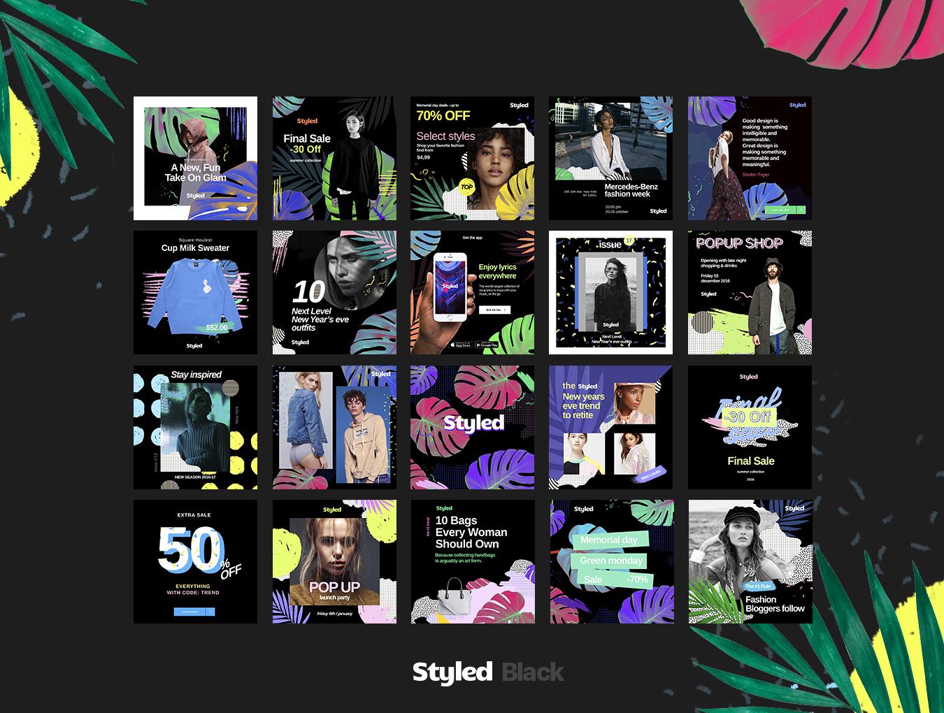 [VIP专享] 40个非常时尚的风格模板.PSD素材下载 VIP主题包-第3张