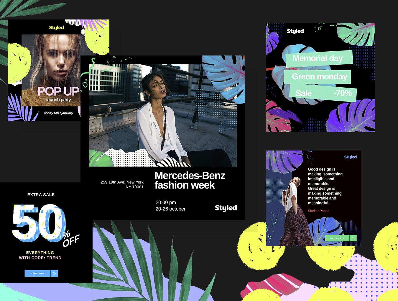 [VIP专享] 40个非常时尚的风格模板.PSD素材下载 VIP主题包-第6张