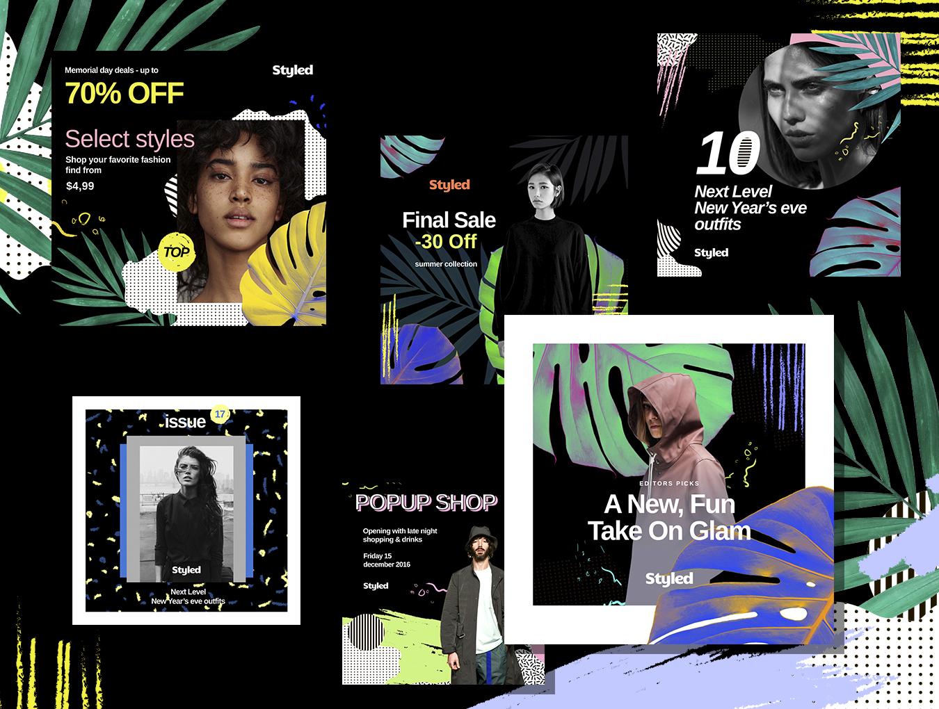 [VIP专享] 40个非常时尚的风格模板.PSD素材下载 VIP主题包-第8张