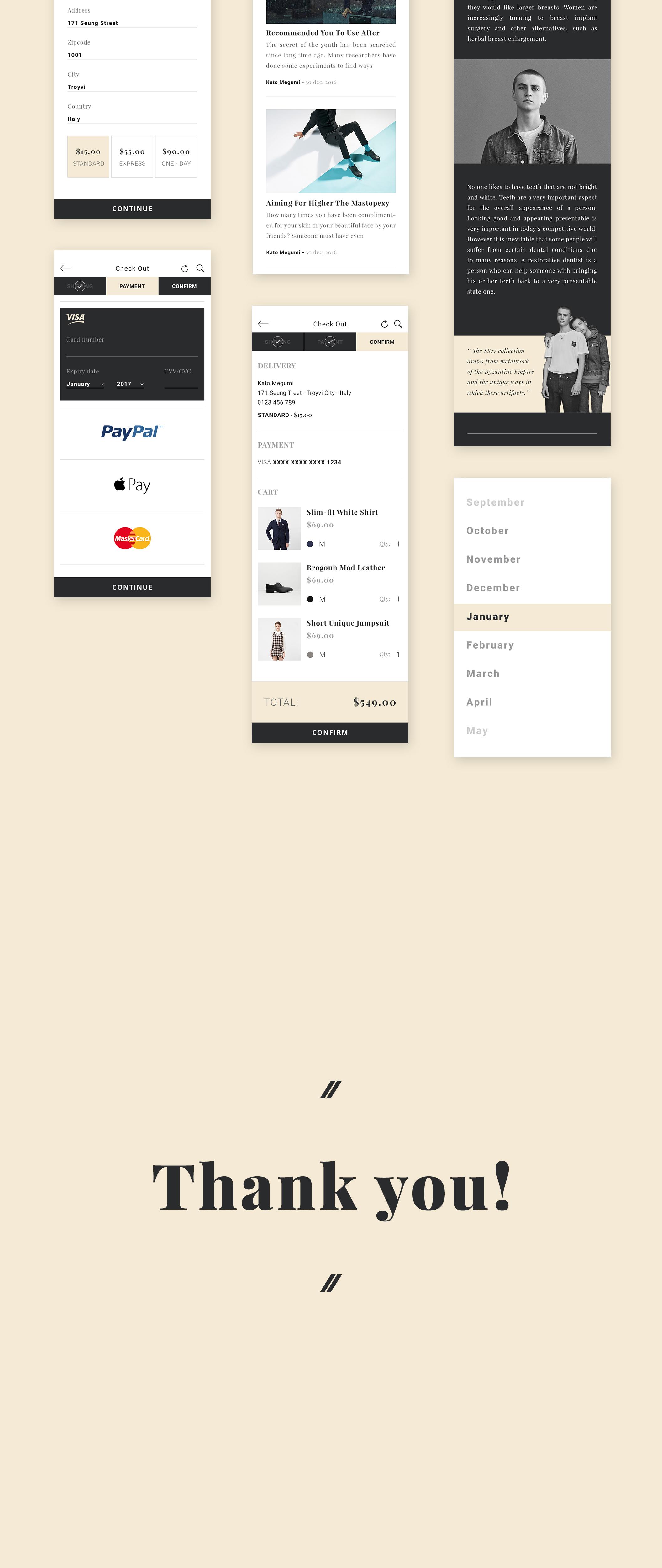 [VIP专享]Zet电子商务UI主题包.sketch素材下载 VIP界面-第4张