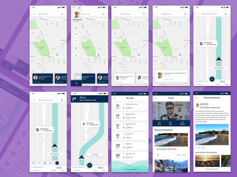 ios旅行应用app界面设计. sketch素材下载 界面-第1张