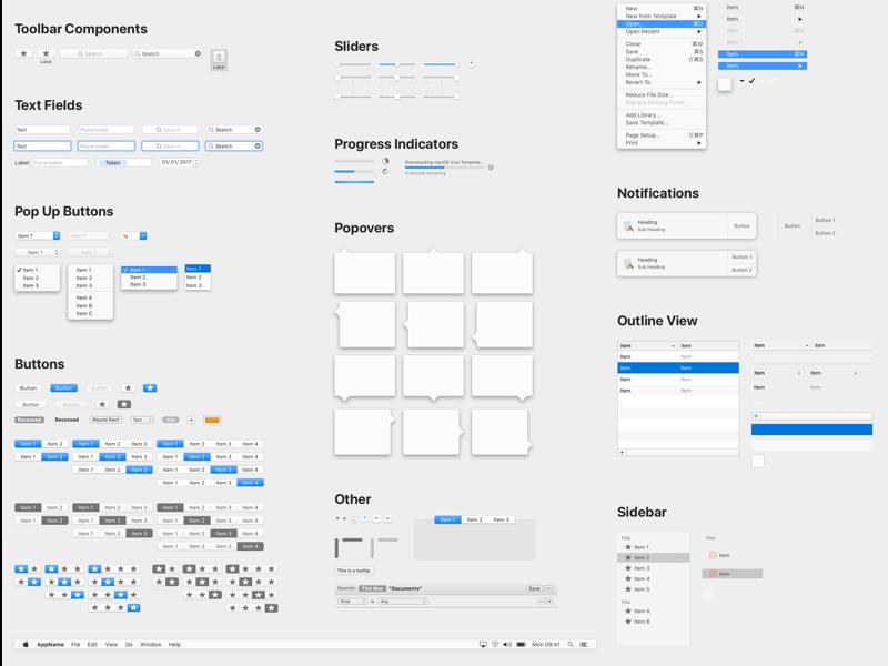 MacOS UI样式库. sketch素材下载 主题包-第1张