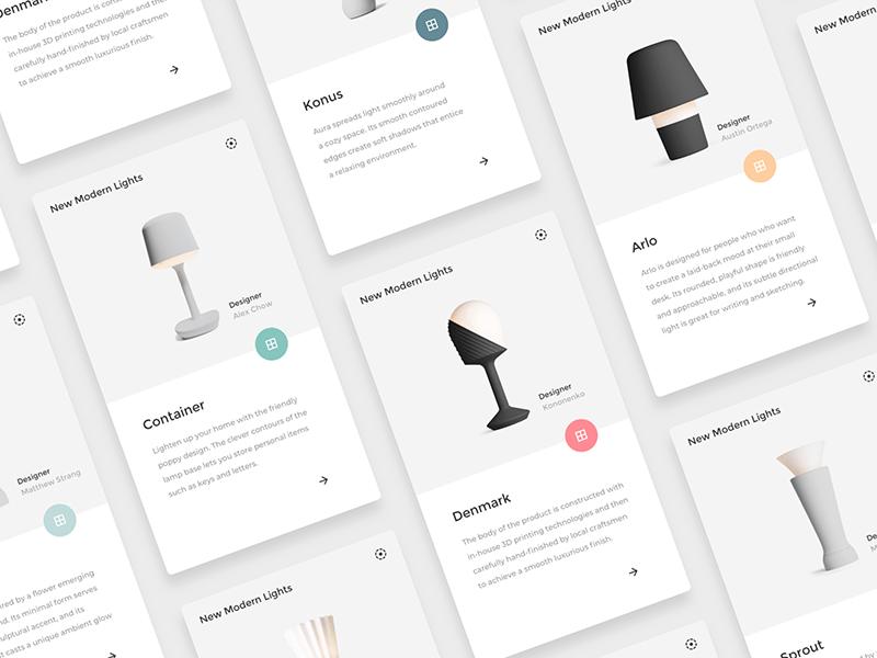 简洁明快的产品卡片视图.sketch素材下载 界面-第1张