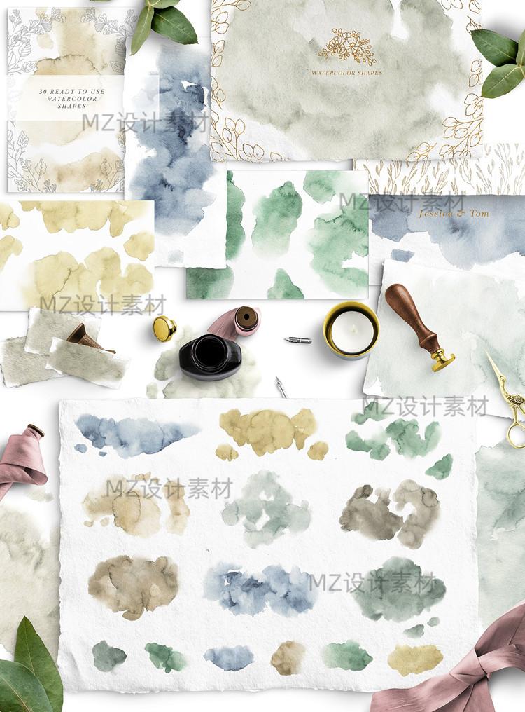 手绘线稿ins风植物动物建筑物花环婚礼地图矢量插画PNG图ps素材 素材包-第2张