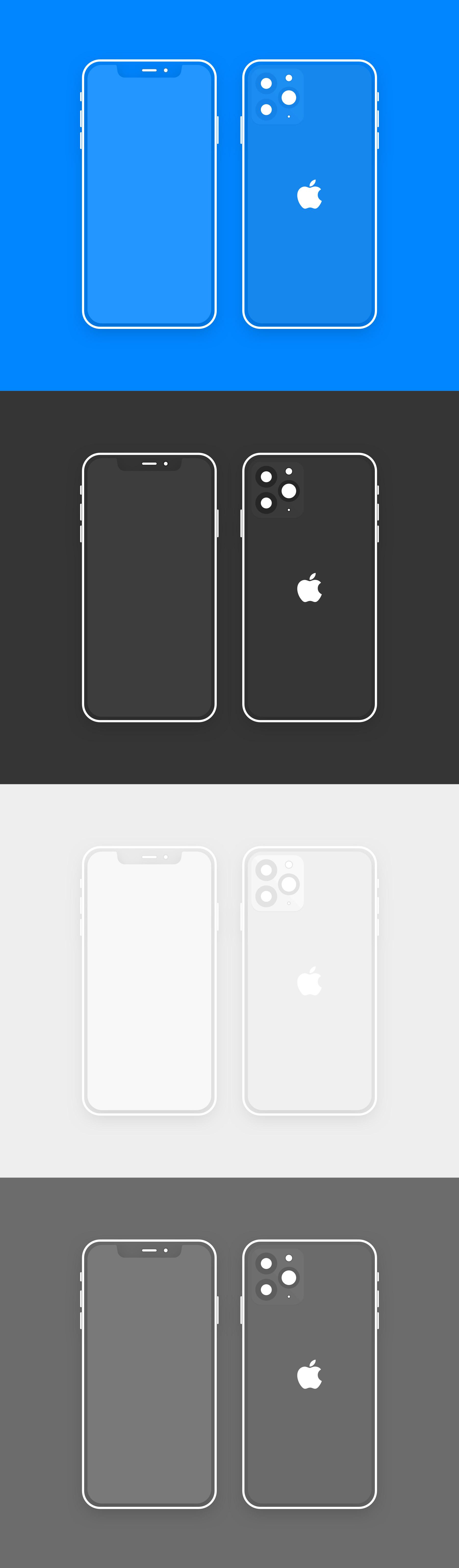 iPhone 11 Pro 线框模型.sketch素材下载 样机素材-第1张