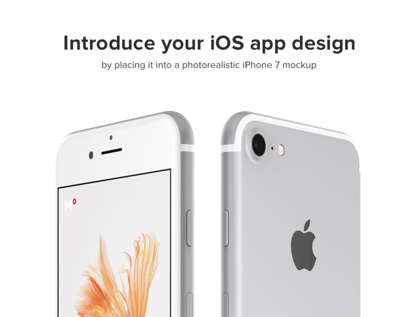 340+ 银色iPhone 7手机样机.psd素材下载 样机素材-第4张