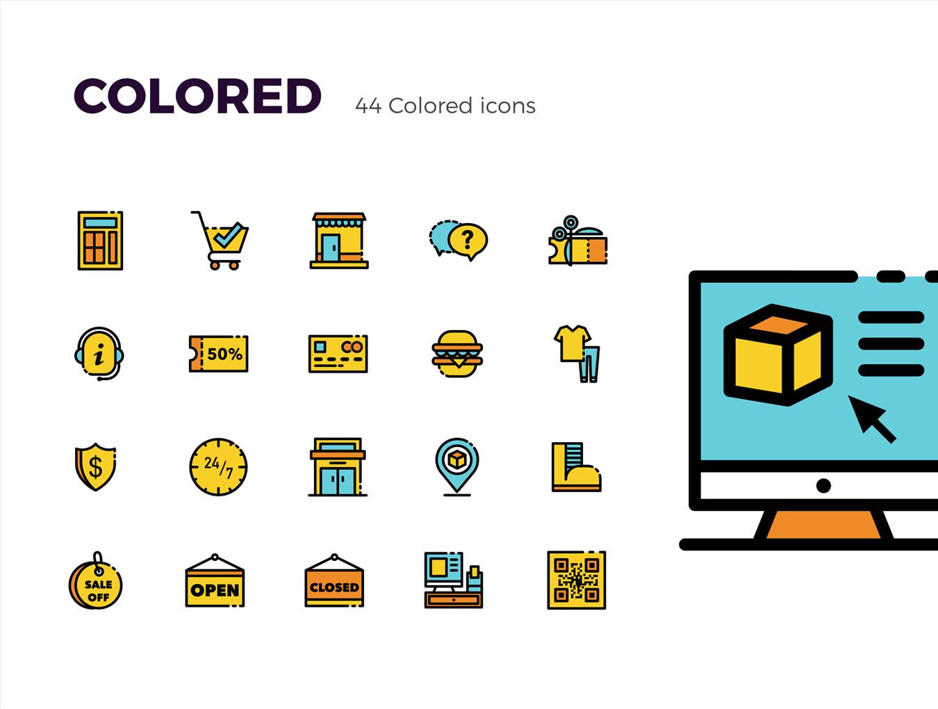 多种格式的Picas电子商务ICON图标集.Ai, Sketch, SVG, EPS, PNG 图标-第1张