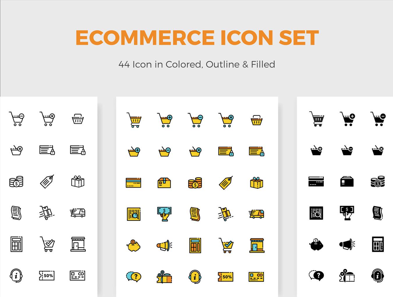 多种格式的Picas电子商务ICON图标集.Ai, Sketch, SVG, EPS, PNG 图标-第4张