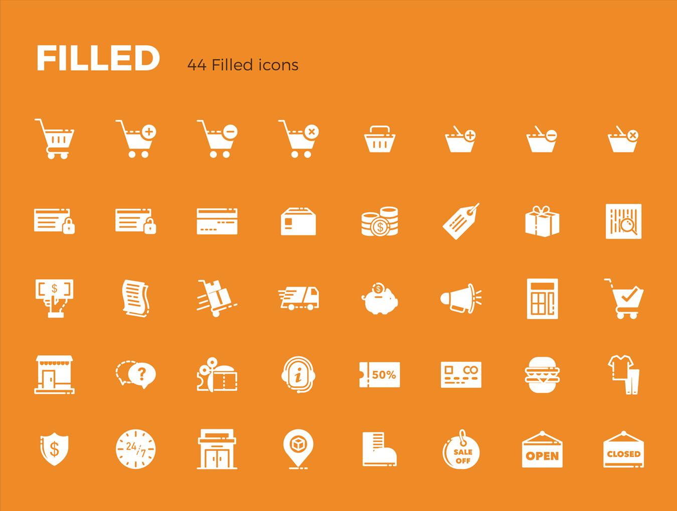 多种格式的Picas电子商务ICON图标集.Ai, Sketch, SVG, EPS, PNG 图标-第5张