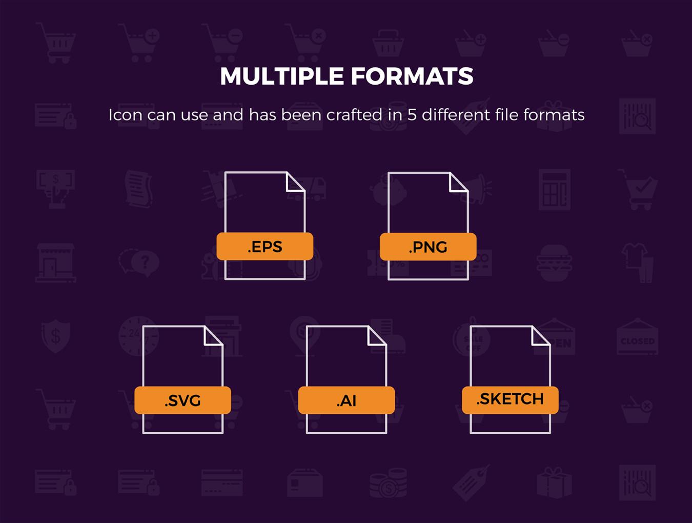 多种格式的Picas电子商务ICON图标集.Ai, Sketch, SVG, EPS, PNG 图标-第8张
