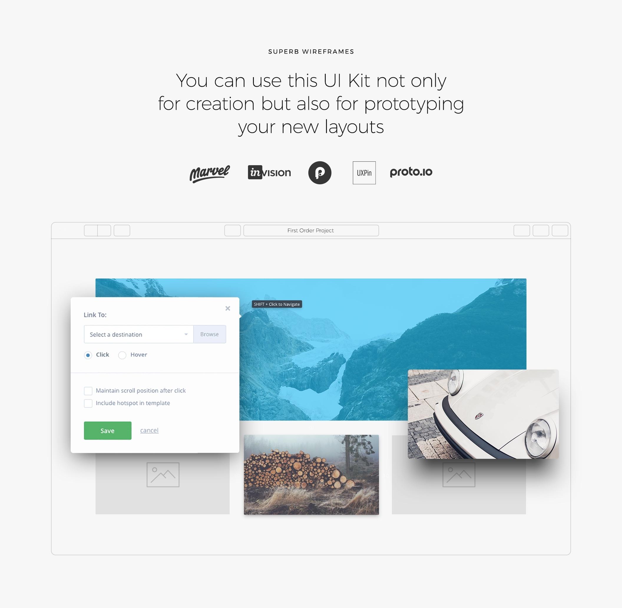 简约优雅的一套网页UI主题包.sketch、psd素材下载 网页模板-第2张