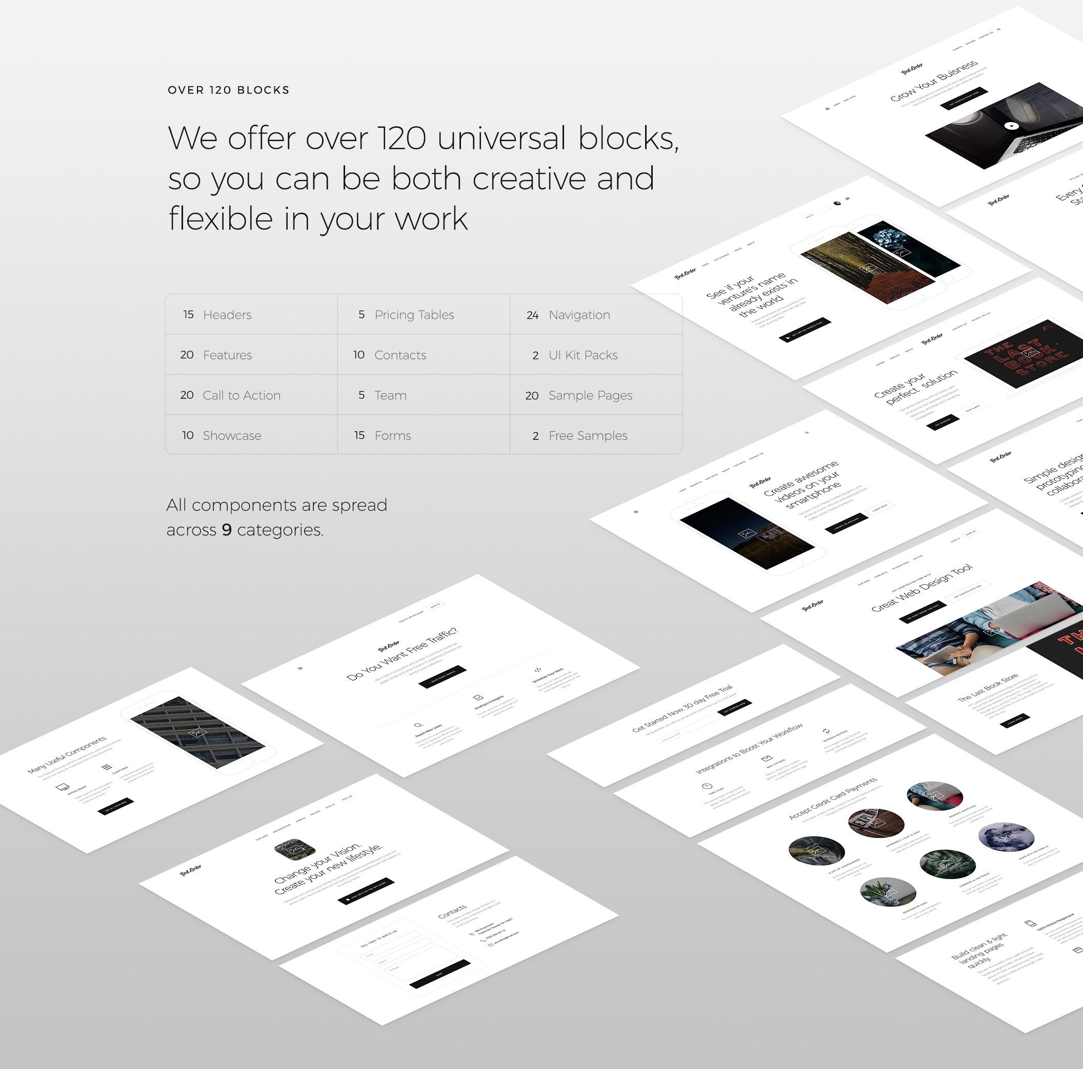 简约优雅的一套网页UI主题包.sketch、psd素材下载 网页模板-第6张