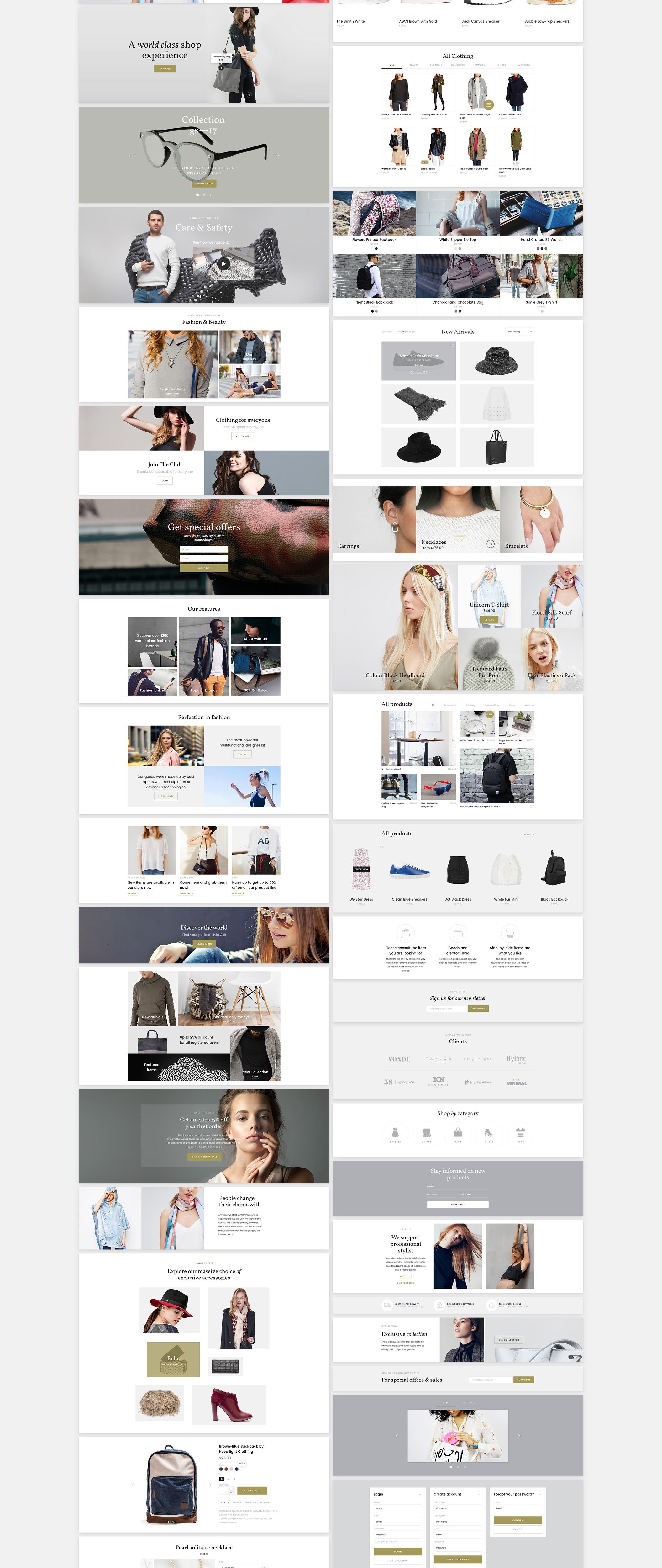 完整的电商购物网站Louca UI Kit 主题包.psd素材下载 主题包-第2张