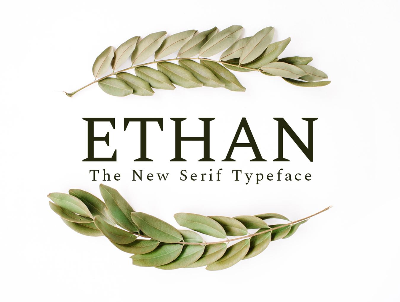英文Ethan字体.font字体下载 其他-第1张
