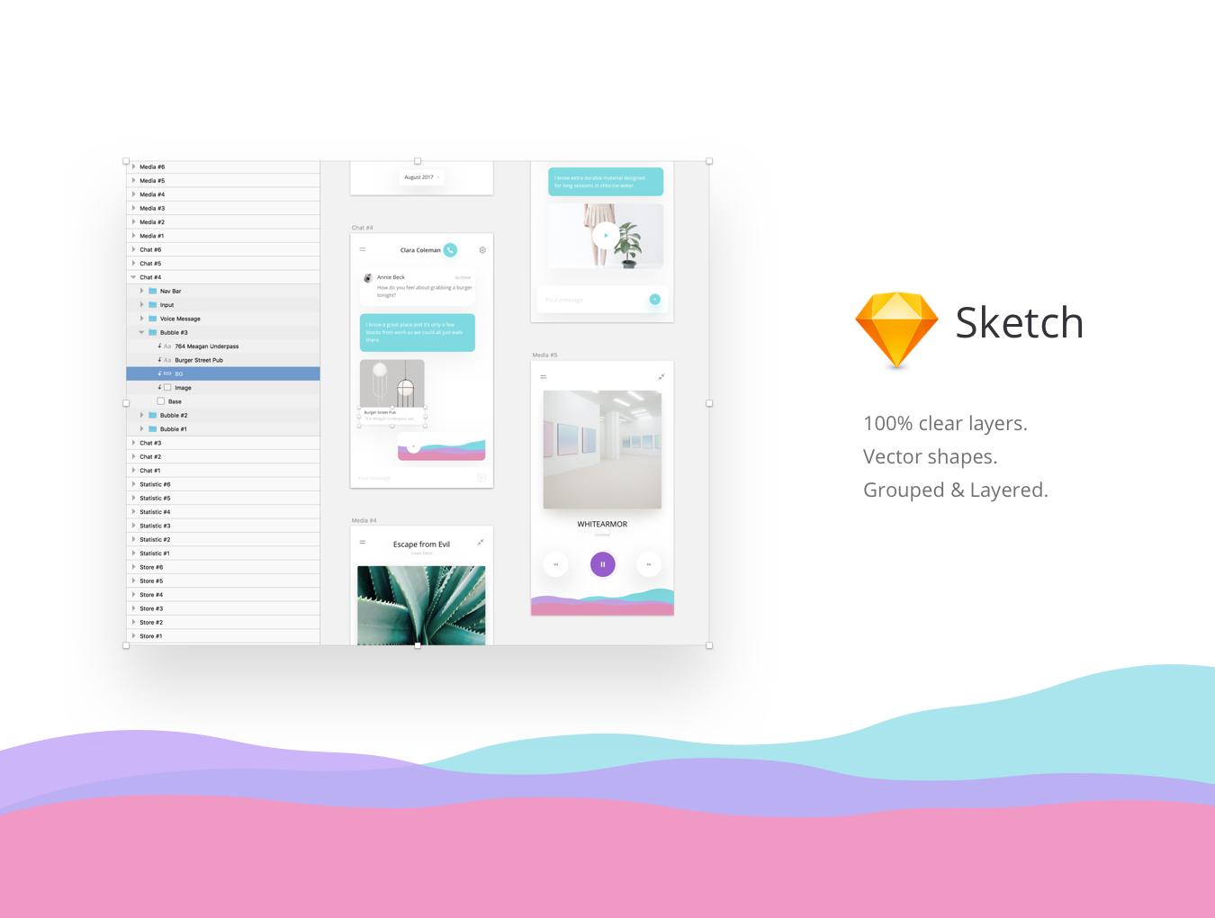 超高质量的 Fludis Sketch UI 主题包.sketch素材下载 主题包-第2张