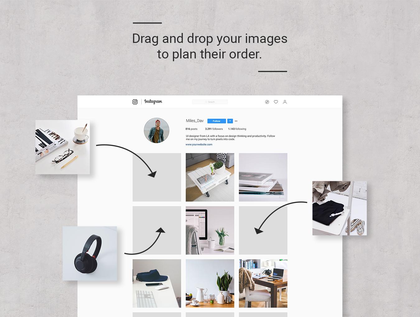 Instagram Feed订阅样机模板.psd素材下载 样机素材-第5张