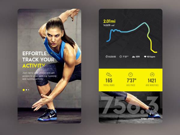 35个跑步APP界面UI设计