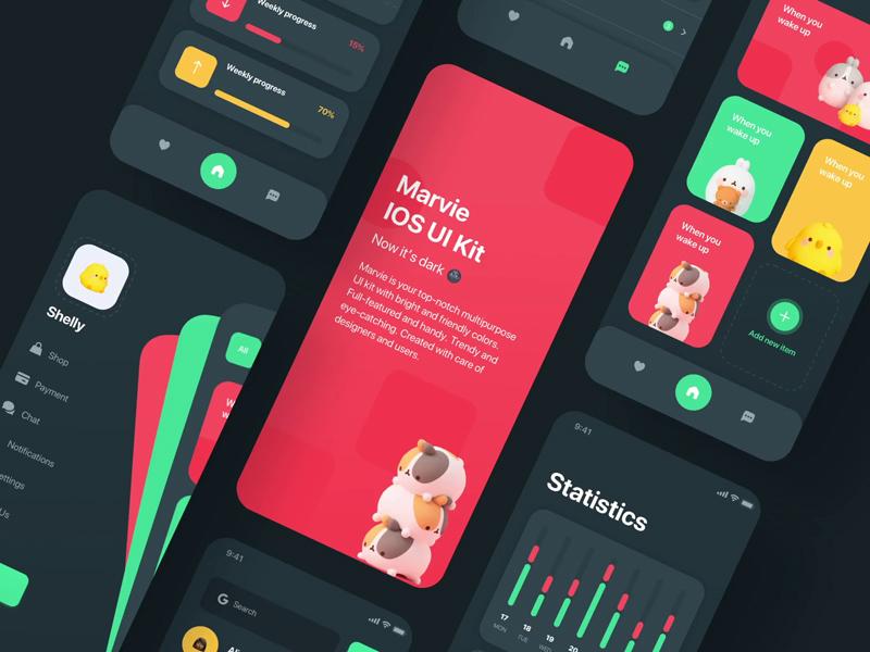 Multipurpose iOS App UI Kit – Marvie