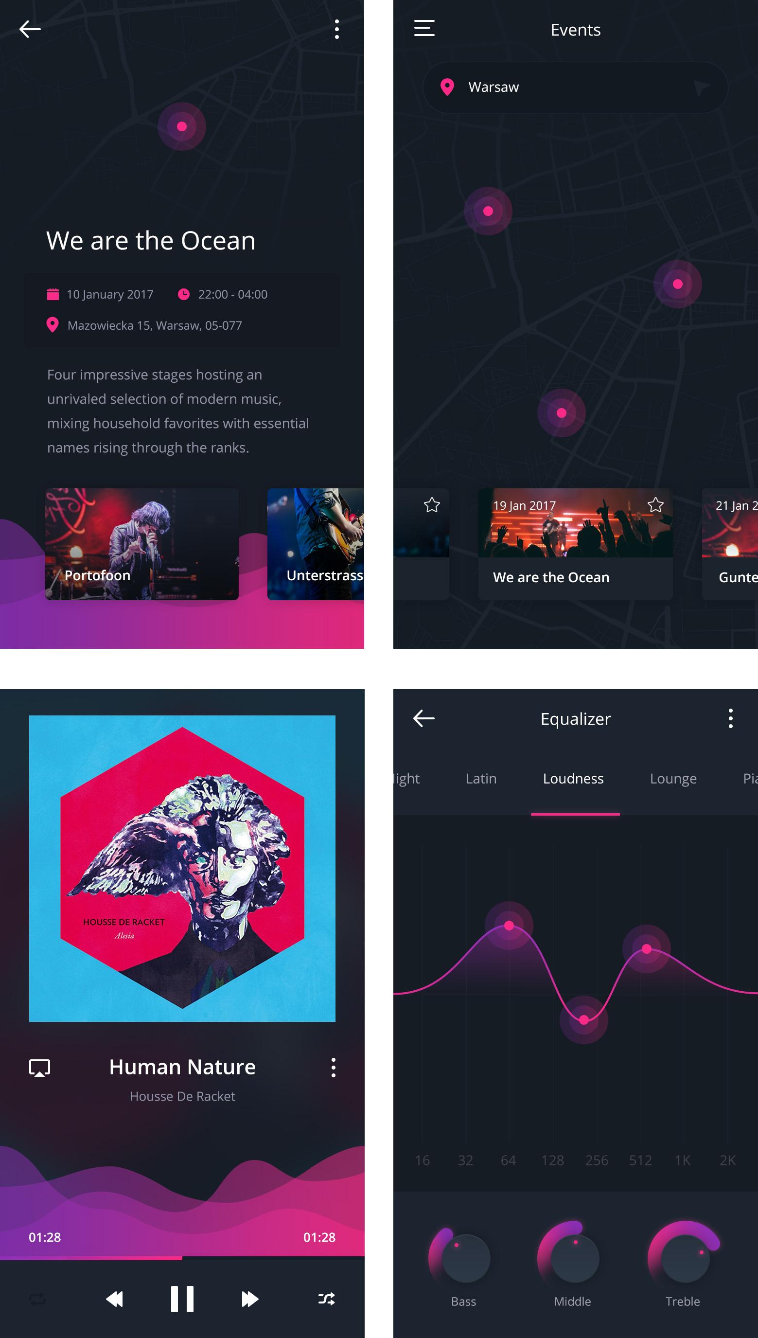 free-ui-kit-social-music-app
