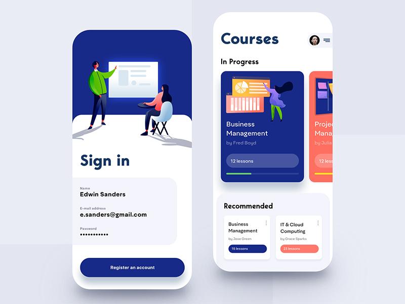 12款学校教育APP界面概念设计