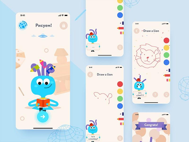 有趣的图画 丰富的色彩:儿童APP界面设计