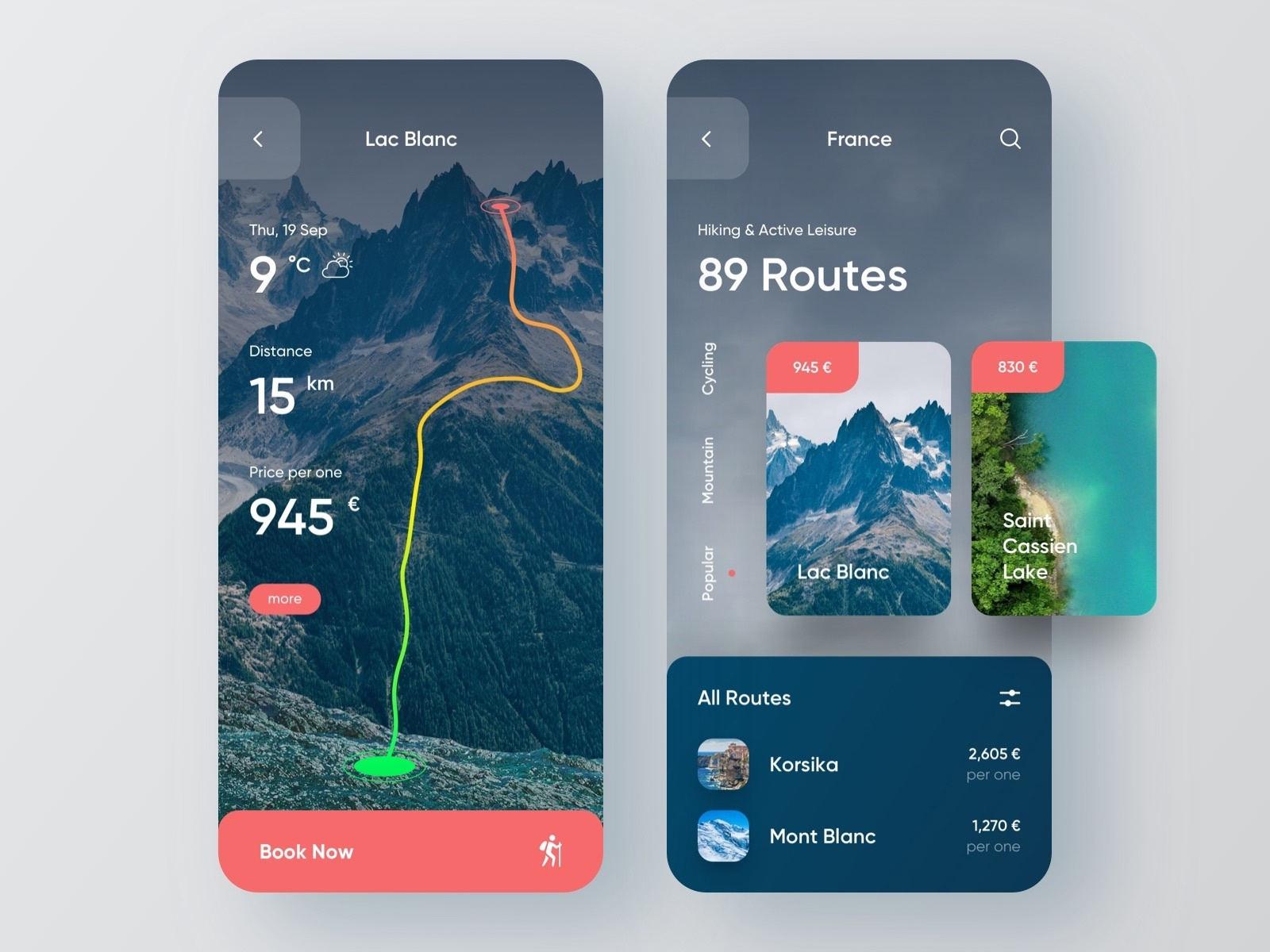 12款旅游APP界面设计