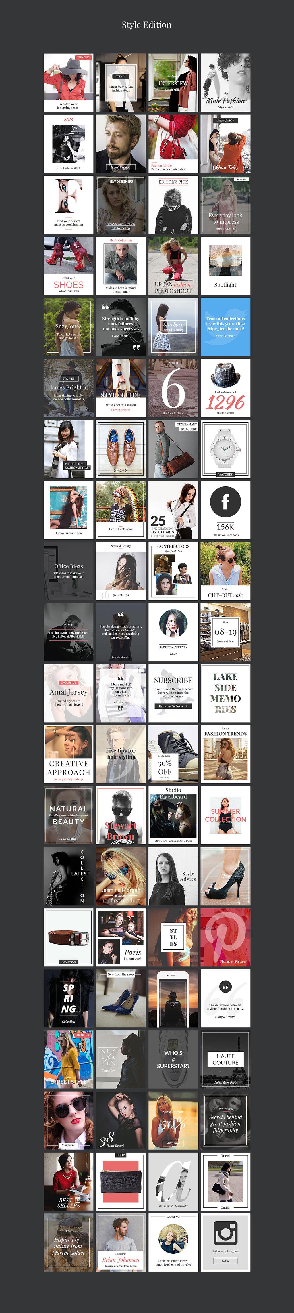 240个国际范的时尚banner广告图PSD模版打包下载