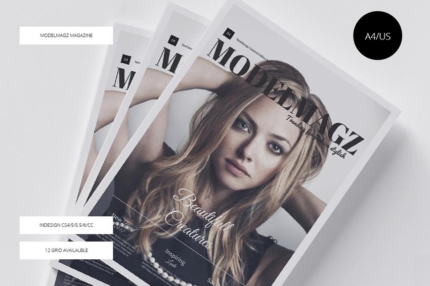时尚服饰画册模版下载[For Indesign]modelmagz-magazine-1