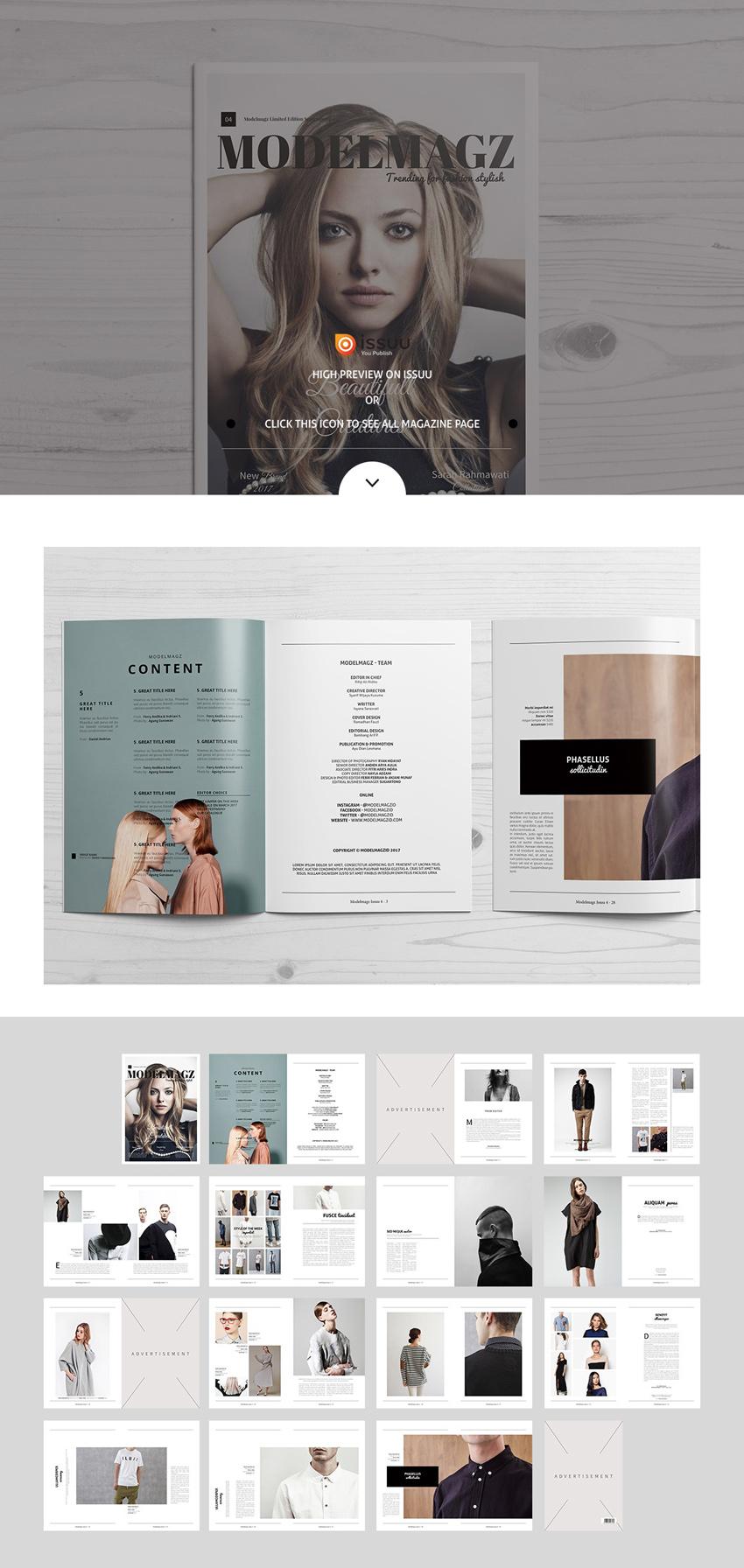时尚服饰画册模版下载[For Indesign]modelmagz-magazine-4
