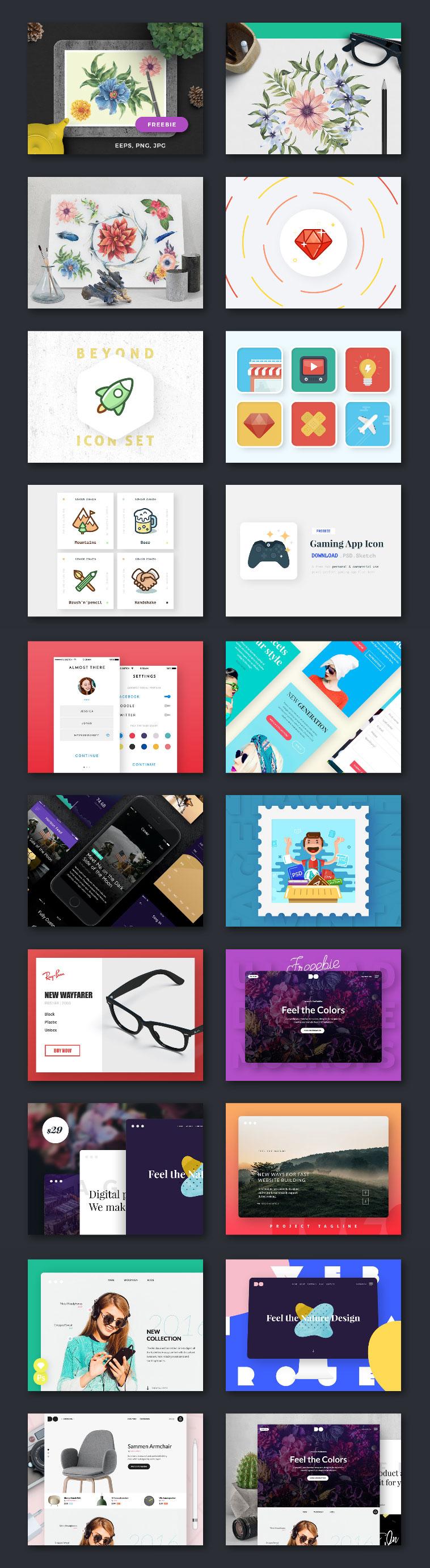 SNS社交网络广告图设计模版PSD下载