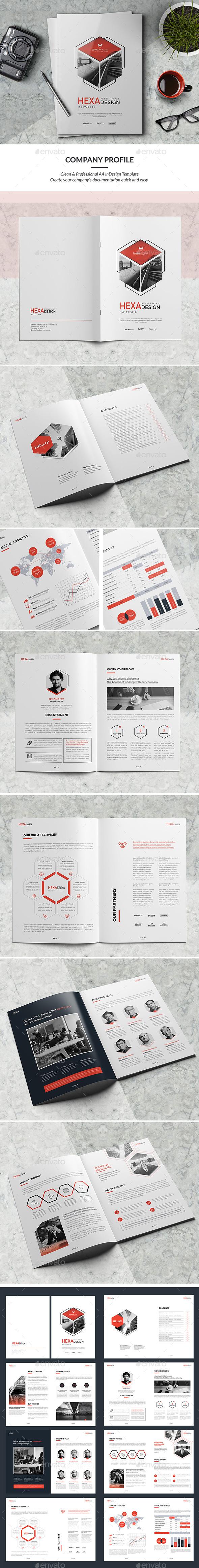 公司信息展示画册模版下载[indd]