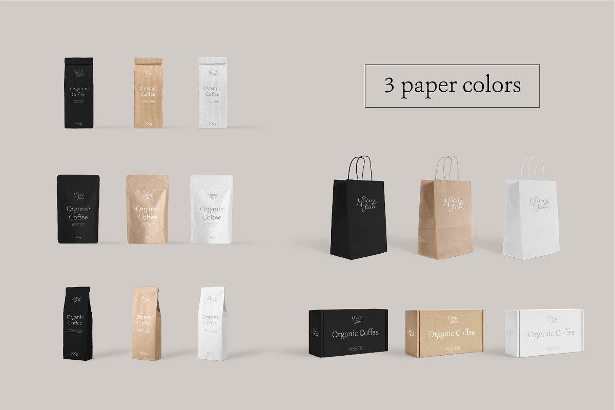 极简主义的打包/包装场景样机模板插图(6)