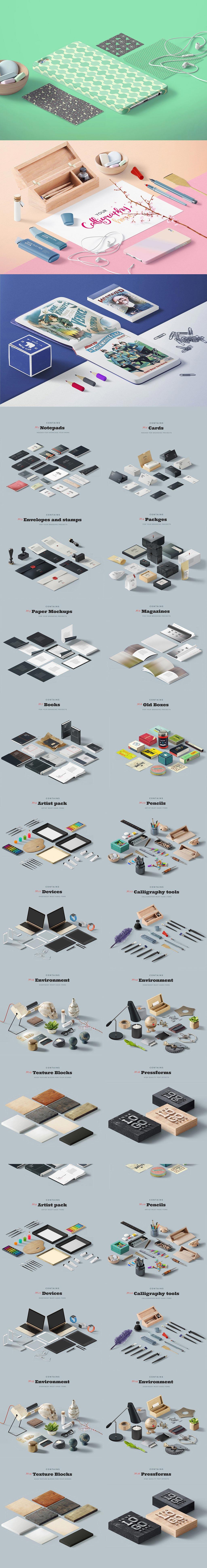高品质的VI设计展示模型MOCKUP套装下载(PSD,10GB,完整版)