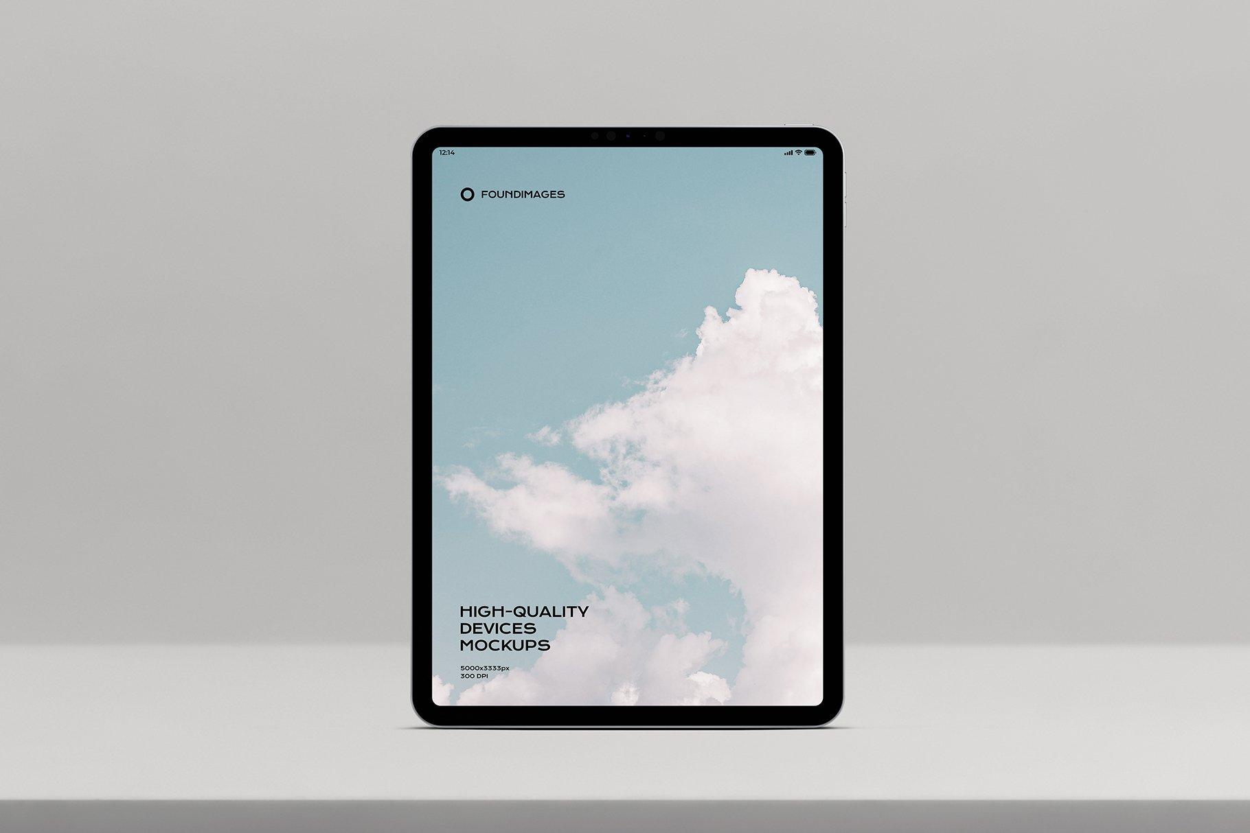 苹果系列设备多屏幕展示样机素材-正视图插图(4)