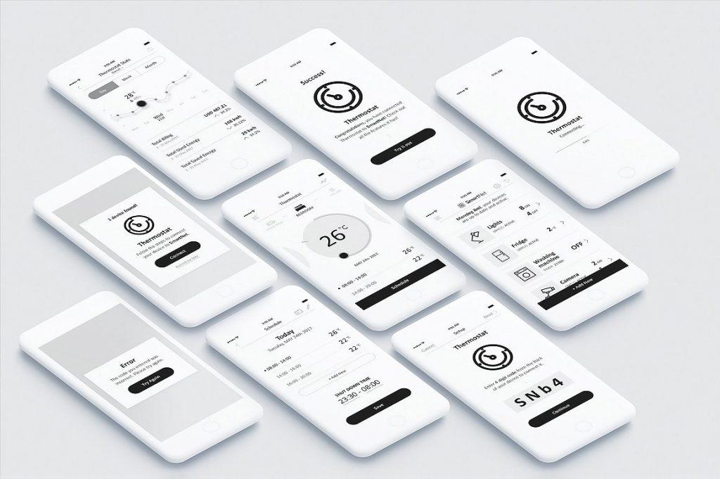 实用的智能家居移动应用程序UI/UX[PSD]插图(1)