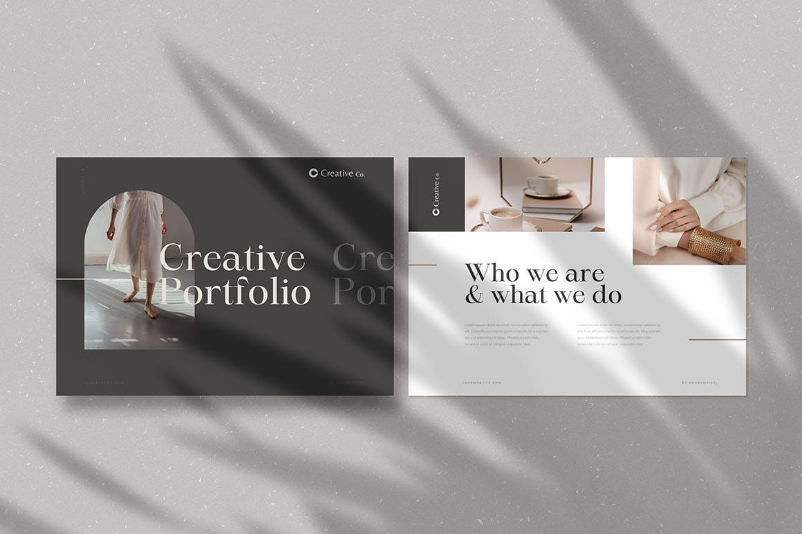 时尚高端简约多用途的高品质品牌手册画册宣传册杂志房地产楼书设计模板-AI,EPS插图(2)