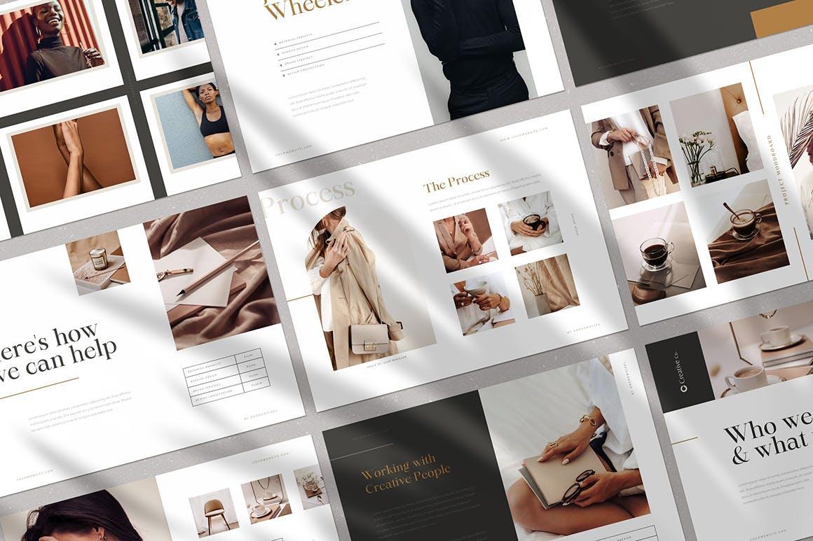 时尚高端简约多用途的高品质品牌手册画册宣传册杂志房地产楼书设计模板-AI,EPS插图(1)