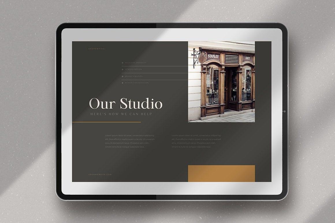 时尚高端简约多用途的高品质品牌手册画册宣传册杂志房地产楼书设计模板-AI,EPS插图(5)